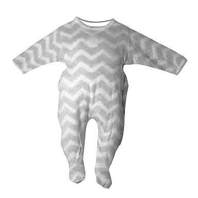 605a9162f Amazon.com  Newborn Footed Pajamas Shevron Style Zigzag Stripes 1 pc ...