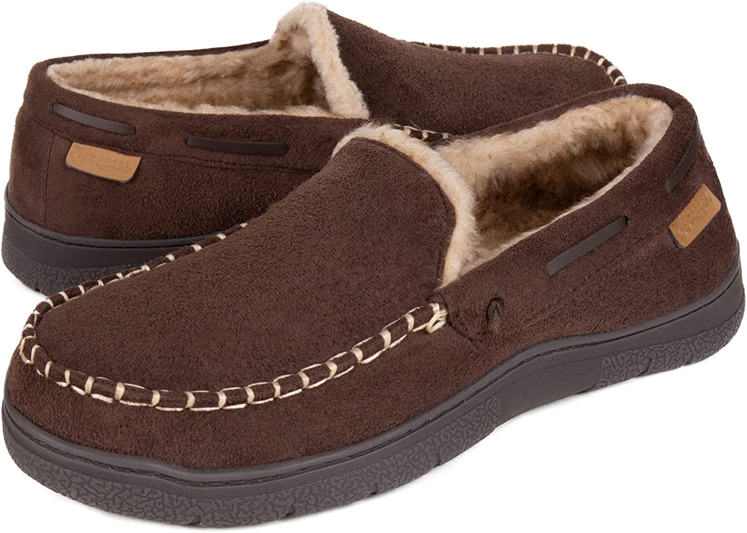 Zigzagger Men's Moccasin Fort Worth Mall Slippers Foam Memory House Popular shop is the lowest price challenge Shoes