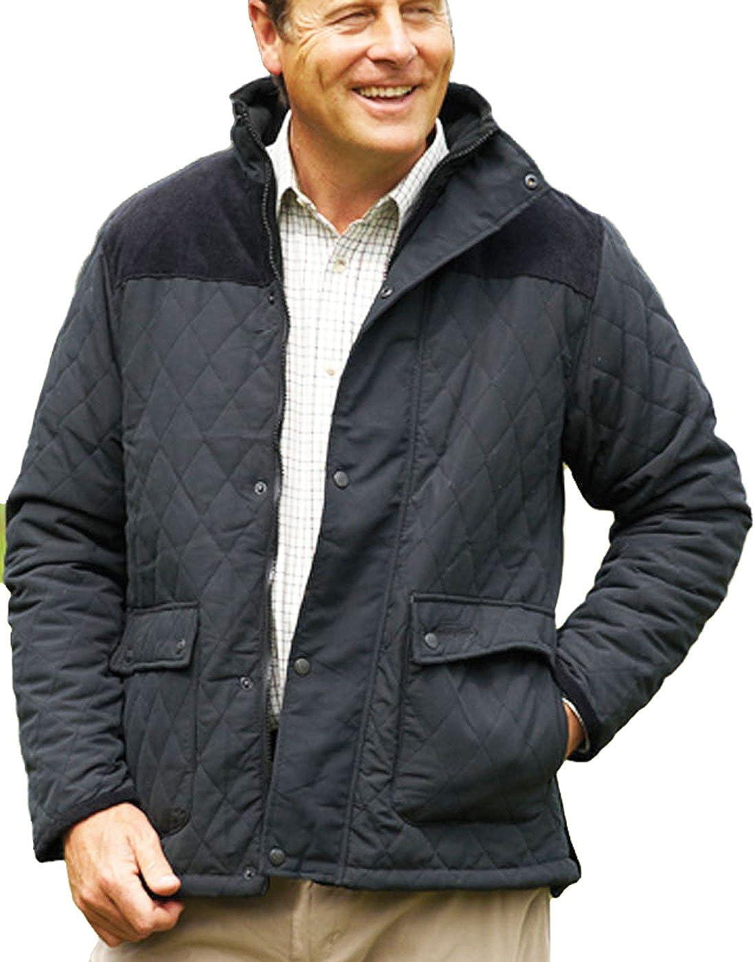 Champion Clothing – Messieurs Lewis Country Estate Britannique Traditionnelle Habillement Manteau Chaud Losange Veste matelassée Velours côtelé