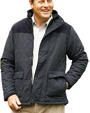 Champion Mens Lewis Country Estate Clothing Warm Quilted Fleece Lined Coat   Amazon.co.uk  Clothing 533efbc8ca