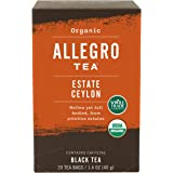 Allegro Tea, Organic Estate Ceylon Tea Bags, 20 ct