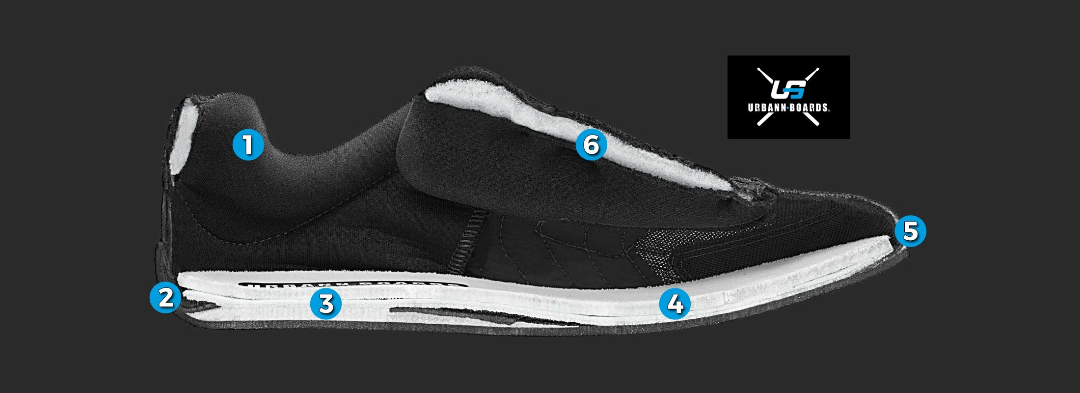 Urbann Boards ''Neil Peart Signature Shoe, Black-Gold 10''