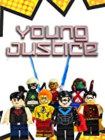 TEEN TITANS YOUNG JUSTICE of Justice League MiniFigures Robin Nightwing Superboy Aqualad, Artemis