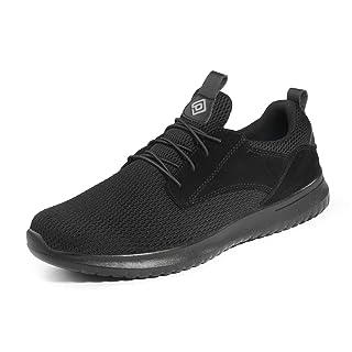 Bruno Marc Men's Slip On Walking Shoes Sneakers Walk-Work-01 Black Size 9.5 M US