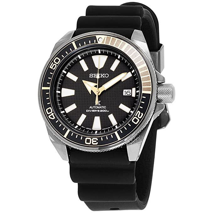 6. Seiko Black Ion Prospex Automatic Dive Watch (SRPB55)