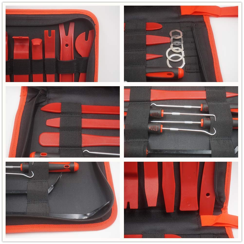 CHEEFULL Car Disassembly Repair Tools Auto Stereo Refit Trim Removal Kits Interior Panel Dashboard Installation Removal Tools Kit (22) by CHEEFULL (Image #3)