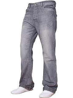 f9461645ee2 APT New Mens Flared Bootcut Denim Jeans Blue Wide Leg King All Waist Sizes  A42
