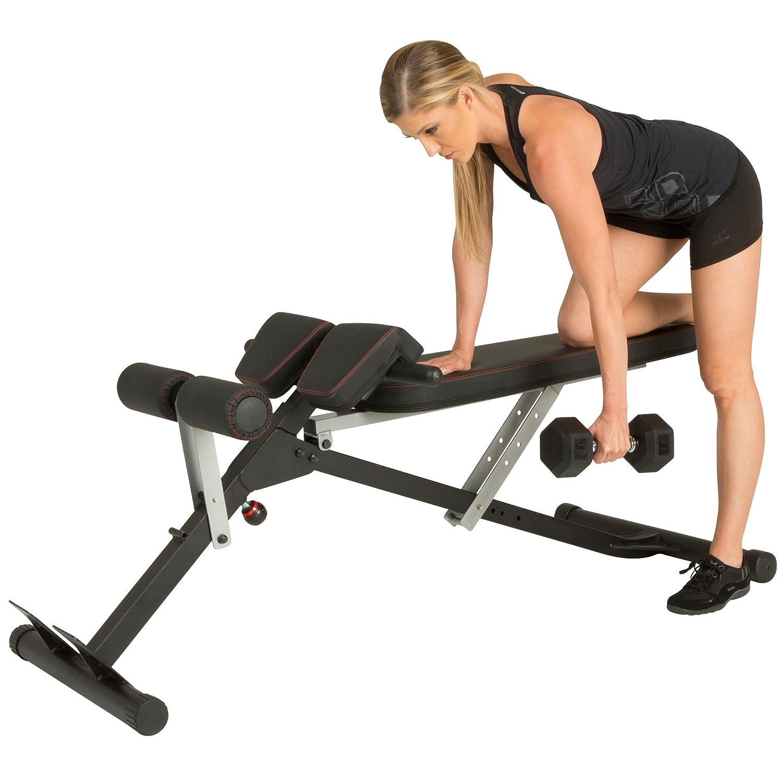 Fitness Realidad Unisex X-Class luz Comercial Multi-Workout Abdominal/Hyper Espalda extensión Banco, Negro, un tamaño: Amazon.es: Deportes y aire libre