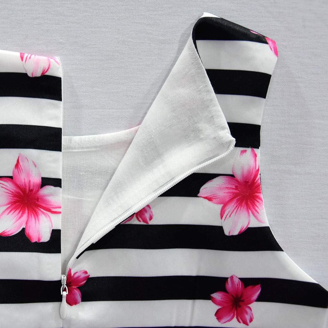 Vestito da principessa con stampa farfalla gonna da sera Dgfstm per feste di compleanno a righe