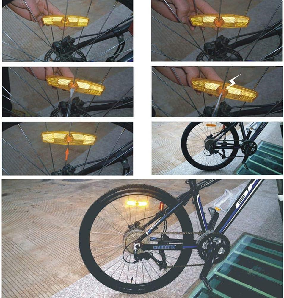 4pc Bicycle Bike Wheel Reflective Spoke Safe Reflectors Road For NuQjN chw/_ etgy