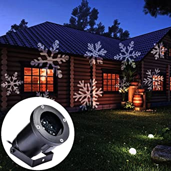 Gledto proyector LED impermeable con diseño de copos de nieve ...