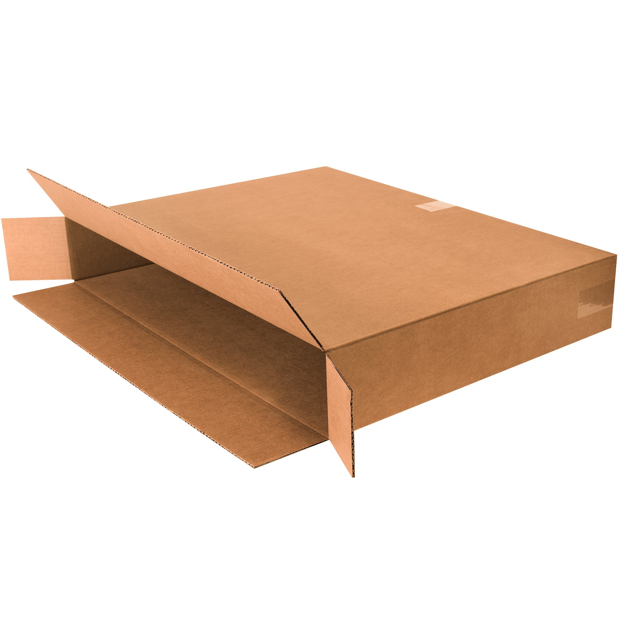 Boxes Fast BF30524FOL Side Loading Corrugated Cardboard Shipping Boxes, 30'' x 5'' x 24'', for Mirrors and Artwork, Kraft (Pack of 10)