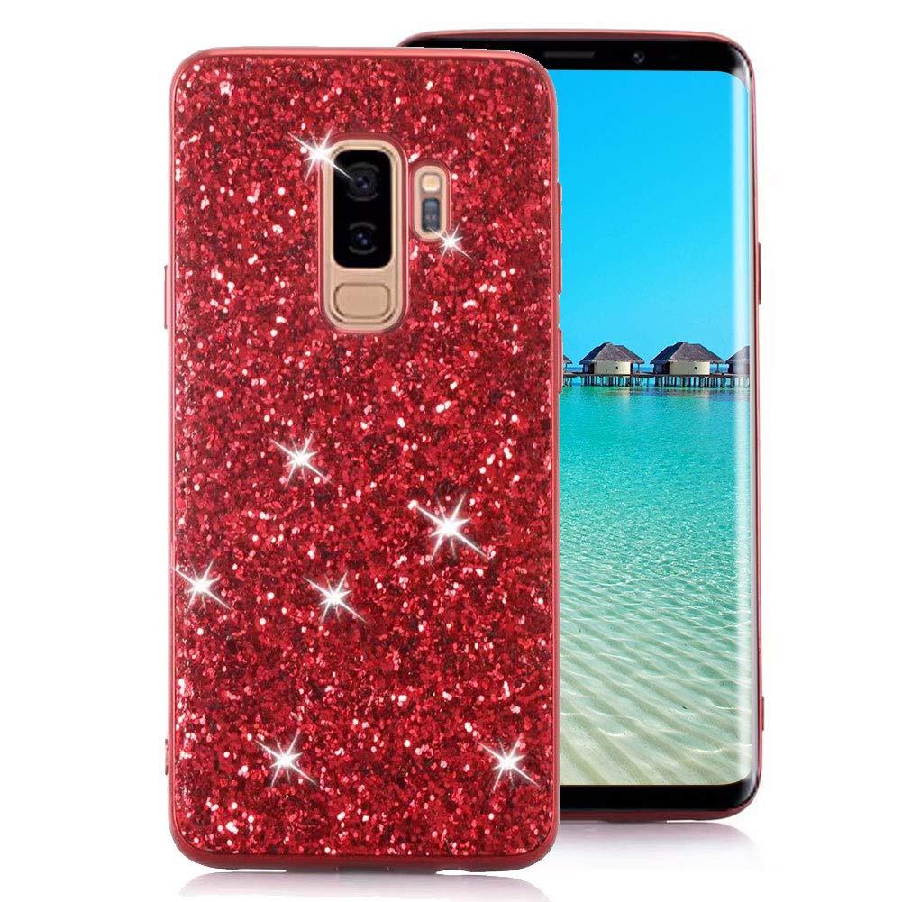 Samsung Galaxy S9 Plus Case [with Free Screen Protector], Funyee Luxury Shiny Sparkle Diamond Ultra-Thin Silicone Gel TPU Anti Scratch Durable Rubber Smart Case for Samsung Galaxy S9 Plus, Rose Gold Funyye