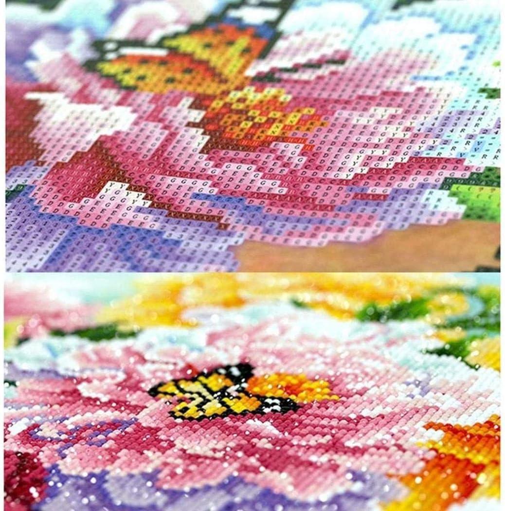 Dongdongole DIY Diamond Cross-Stitch Painting Kit Full-Rhinestone Dandelion Cross Stitch Arts Home Decor