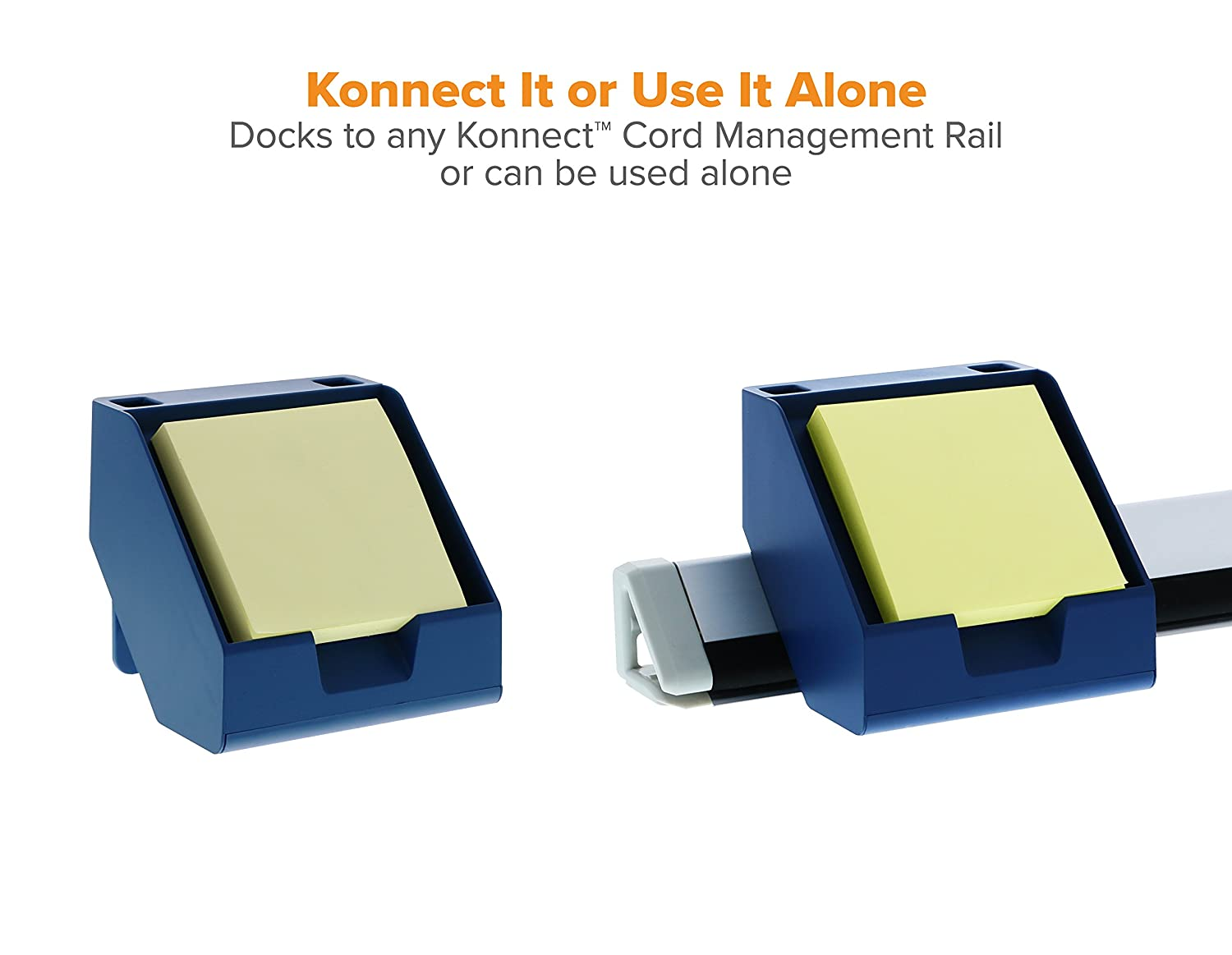 Includes Pen Holders Bostitch Konnect Sticky Note Holder Business Card Stand