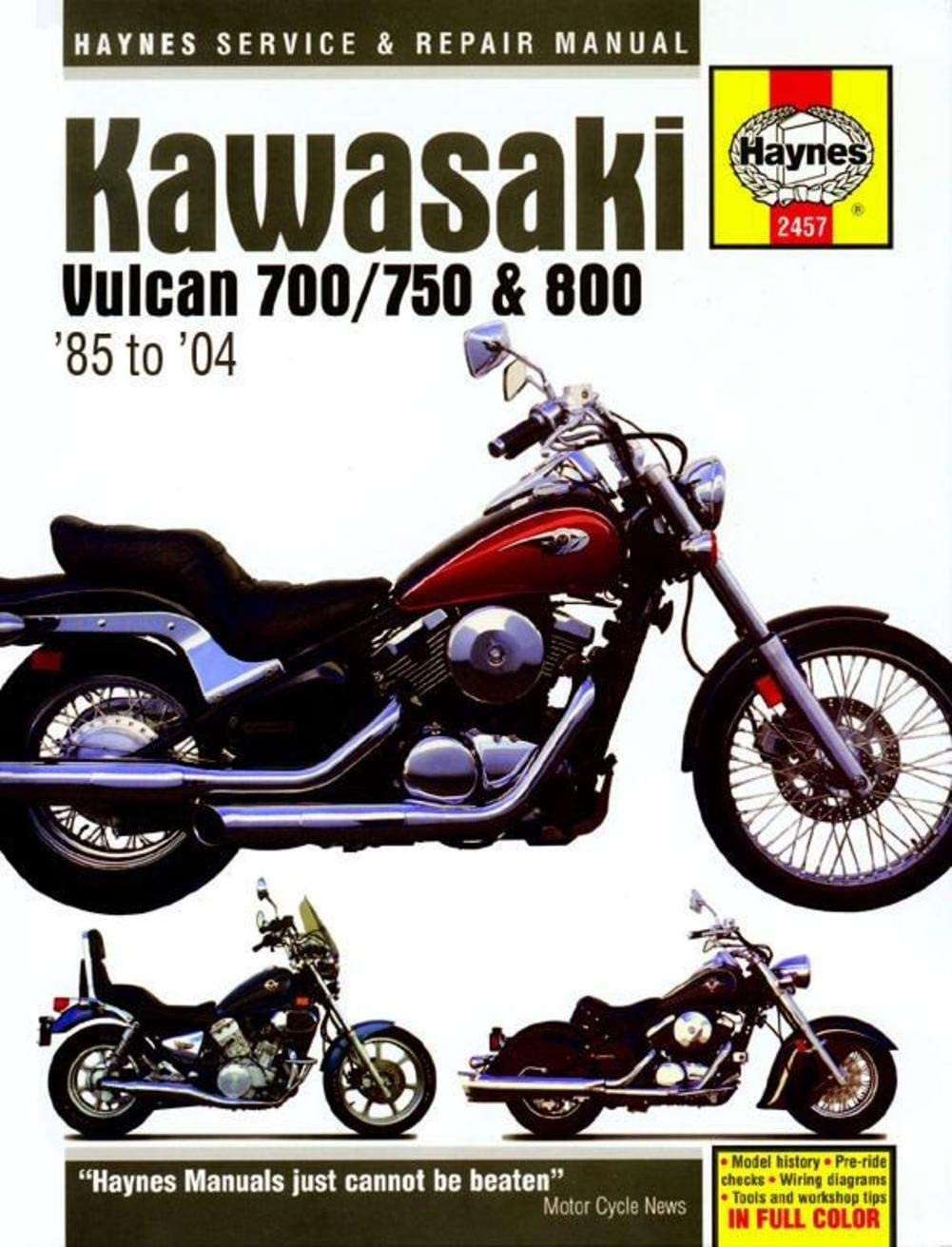 Haynes Kawasaki Vulcan 700/750/800 Manual M2457: Automotive - Amazon.comAmazon.com