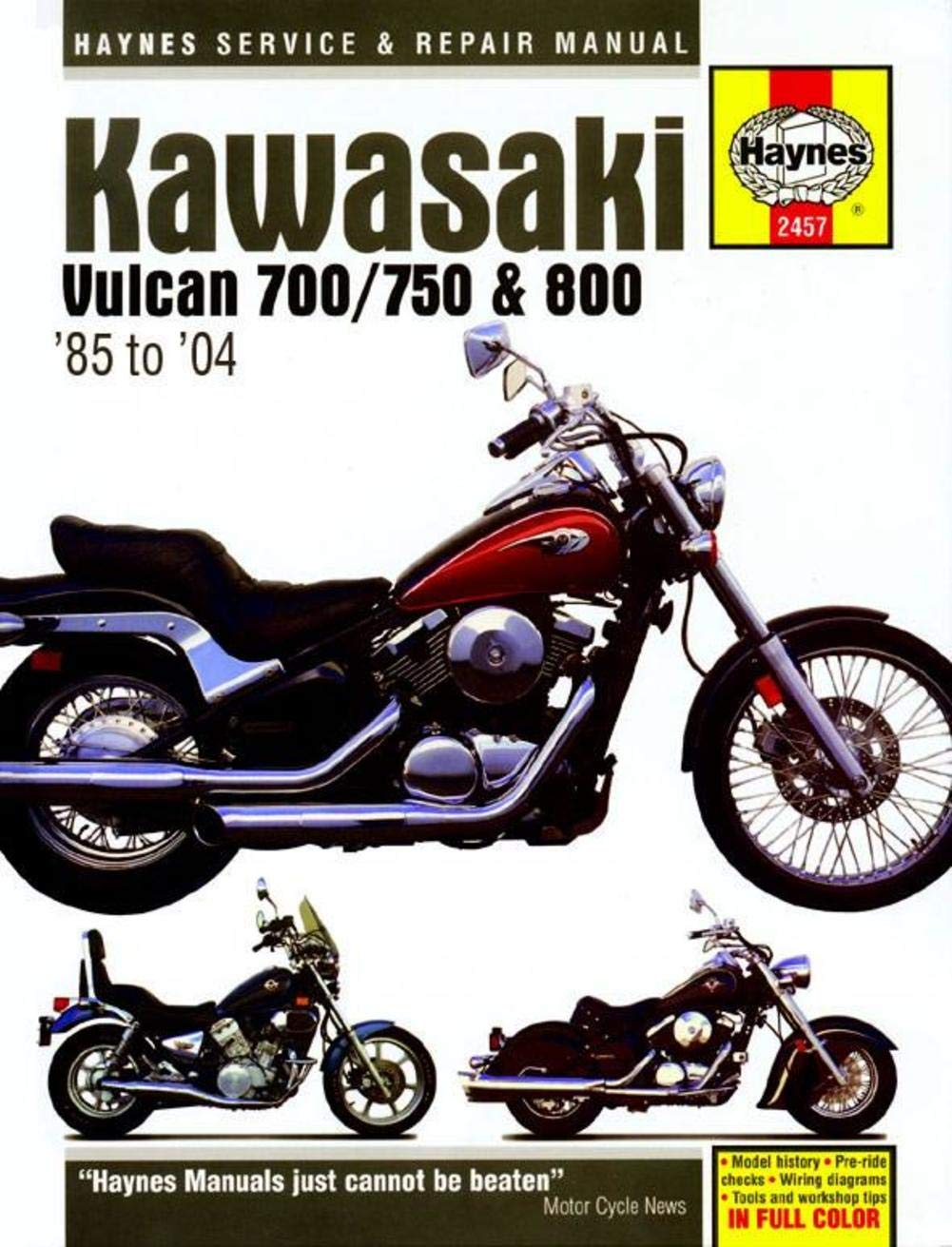 750 Kawasaki Motorcycle Wiring Diagram Reinvent Your 220 Engine Amazon Com Haynes Vulcan 700 800 Manual M2457 Automotive Rh 1982 Diagrams 200
