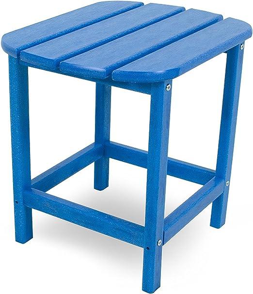 CASA BRUNO South Beach mesa rincón, HDPE poly-madera, azul ...