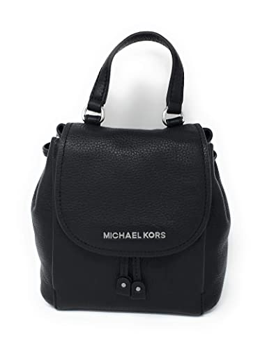 81ba8594c098 Michael Kors Riley Small Flap Pack Crossbody Pebbled Leather Bag Black:  Handbags: Amazon.com