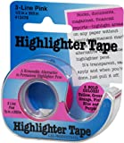 "Highlighter Tape 1/2""X393""-Pink"