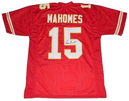 0154c09ac Patrick Mahomes Autographed Jersey -  15 Red - JSA Certified - Autographed  NFL Jerseys