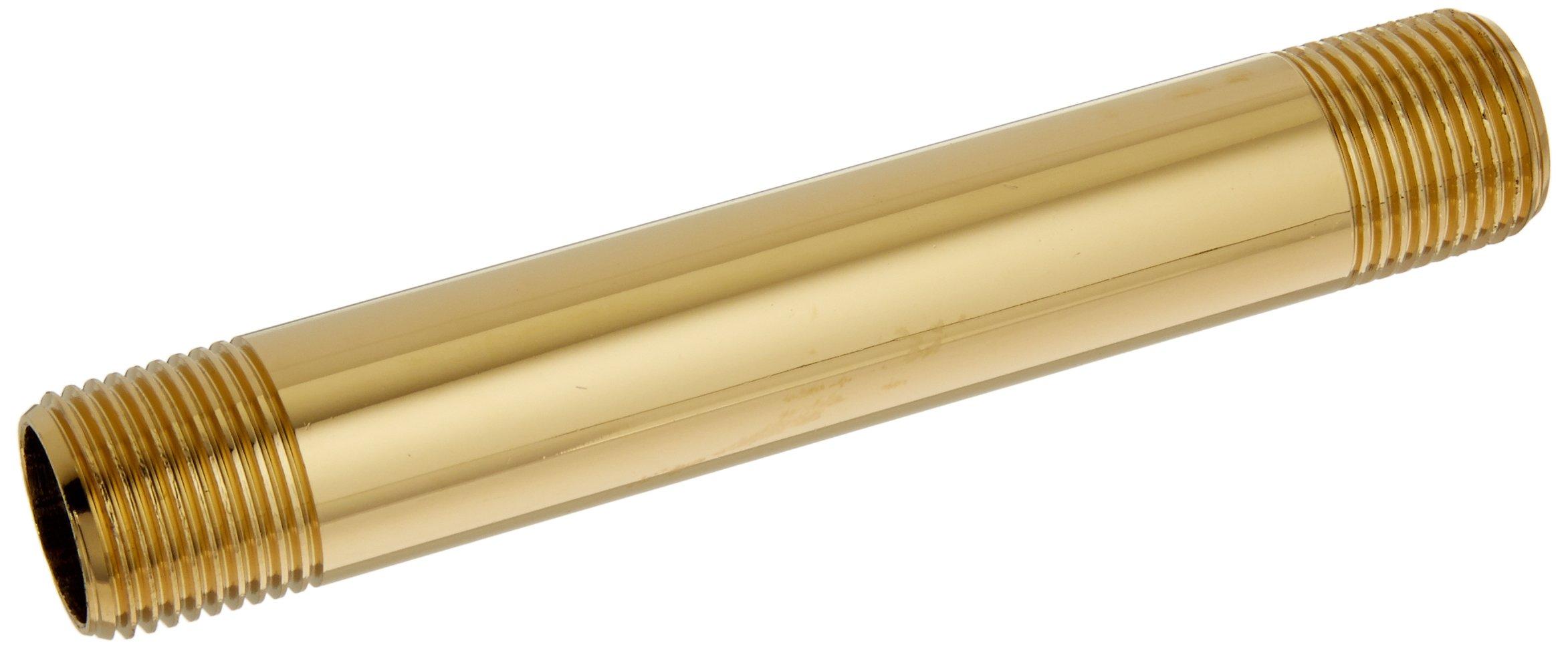Jones Stephens N17375 3/8 X 4-Inch Polished Brass Nipples