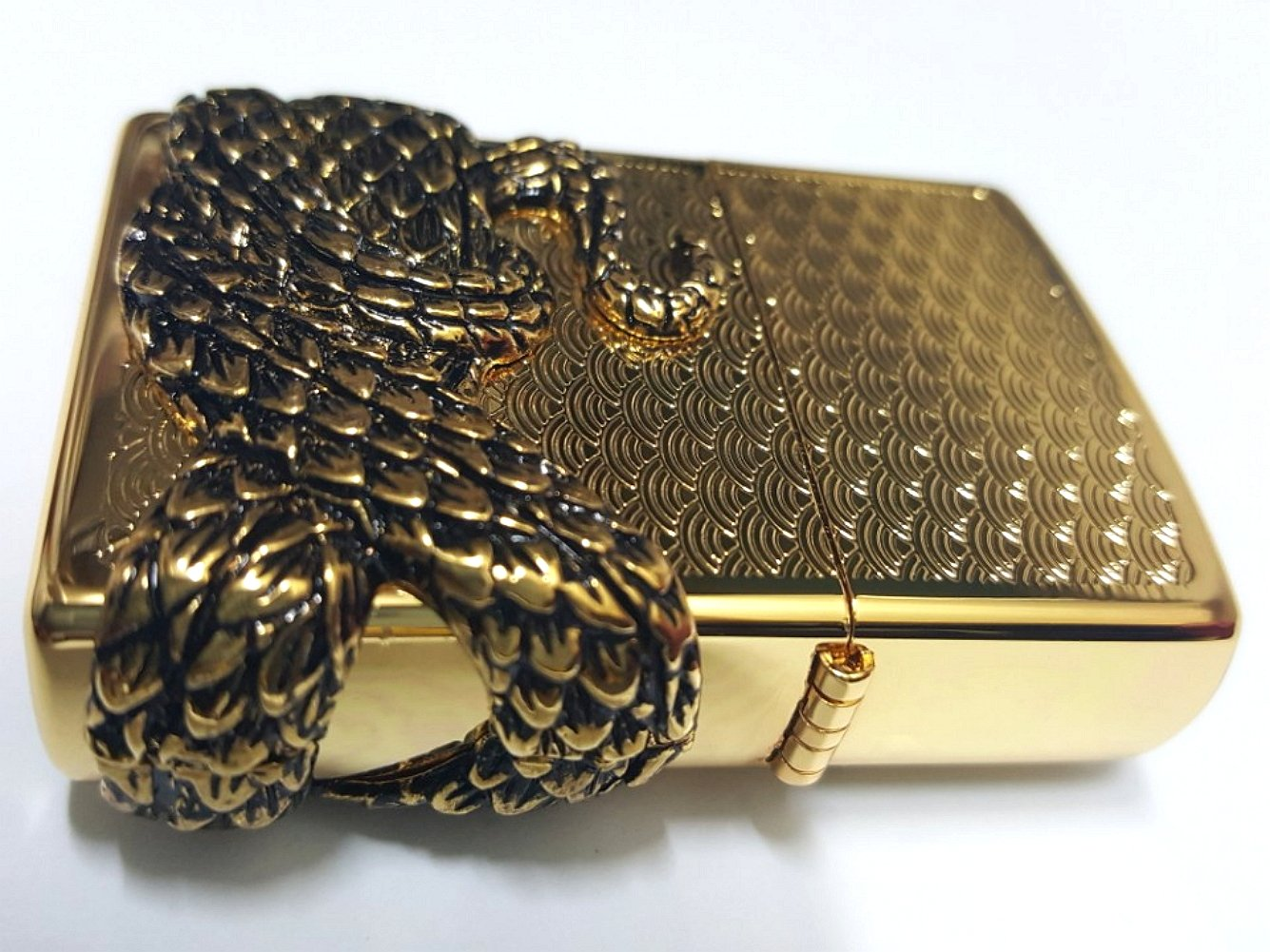 Zippo Snake Coil Gold Lighter / Genuine Authentic / Original Packing (6 Flints set Free Gift) by Zippo (Image #5)