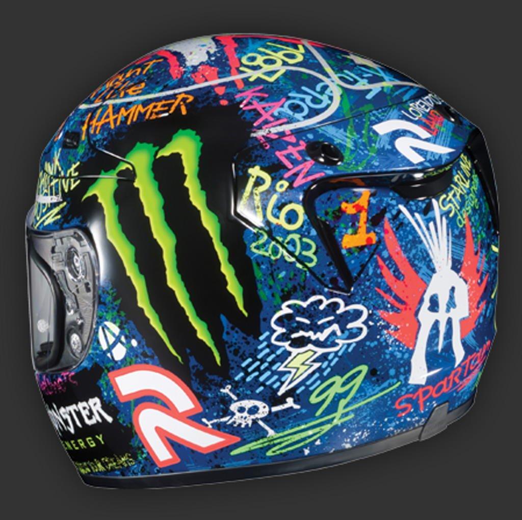 Jorge Lorenzo Helmet Graffiti American Bathtub Refinishers Stiker Helm Desain Rpha