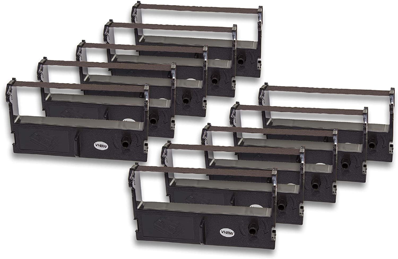 C43S015461 ERC-43. vhbw 3x Farbband Nylonband Tintenband f/ür Nadeldrucker Sigma CR 6000A wie ERC-39