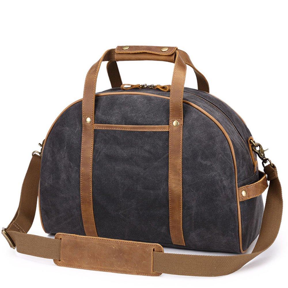 Color : Black Yangjiaxuan Travel Bag Female Hand Shopping Lightweight Canvas Large Capacity Duffels Bag Weekend Bag
