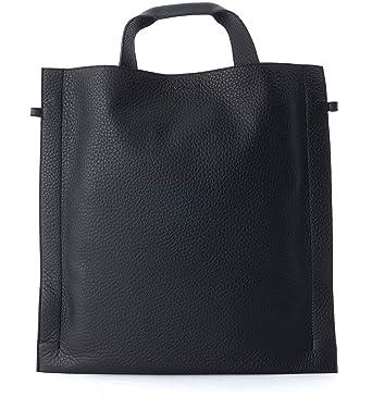 45e60c8f9d328 Orciani Tasche In SchwarzBekleidung Genarbtem Leder 54RALj