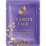 Fast Beauty Co. Clarity Face! 1 Charcoal Detoxifying Gold Floral Sheet Mask With Rosemary