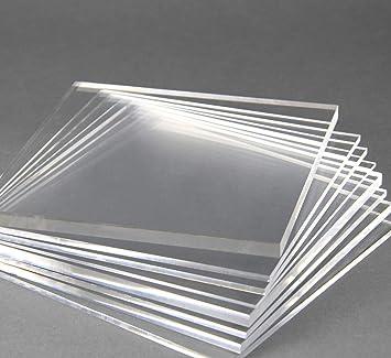 Acrylglas Zuschnitt Plexiglas Zuschnitt 2-8mm Platte//Scheibe klar//transparent 6 mm, 1000 x 600 mm