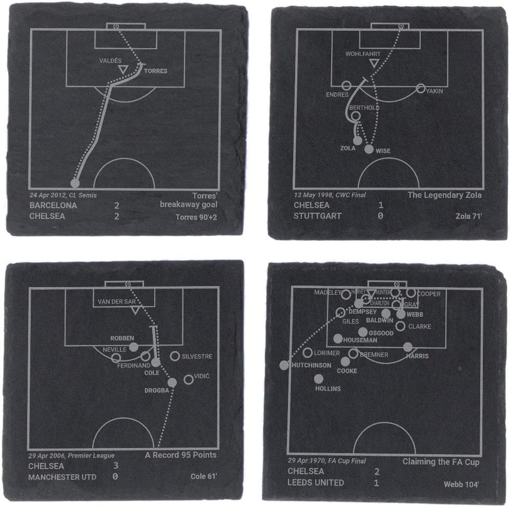 Set of 4 Slate Coasters Greatest Manchester United Plays