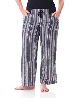 76eb82237fe5 Alki'i Women's Loose Fit Summer Pants with Roll-up Leg 2161 at ...