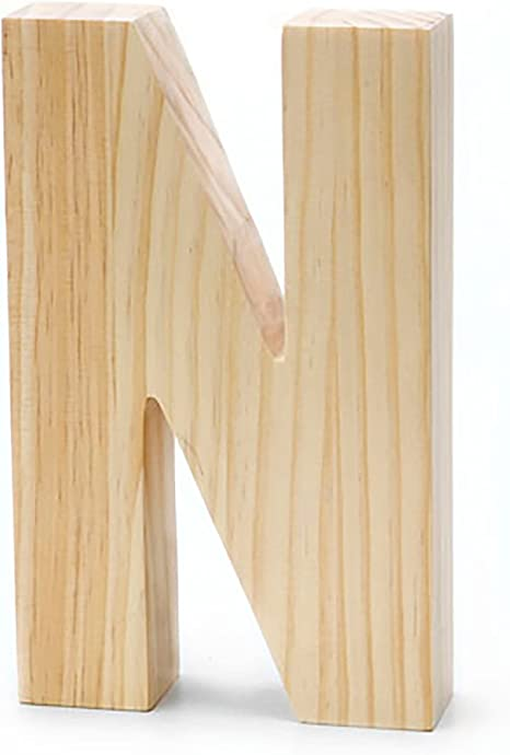 5 Black Capital A Darice 9190-A Solid Wood Letter