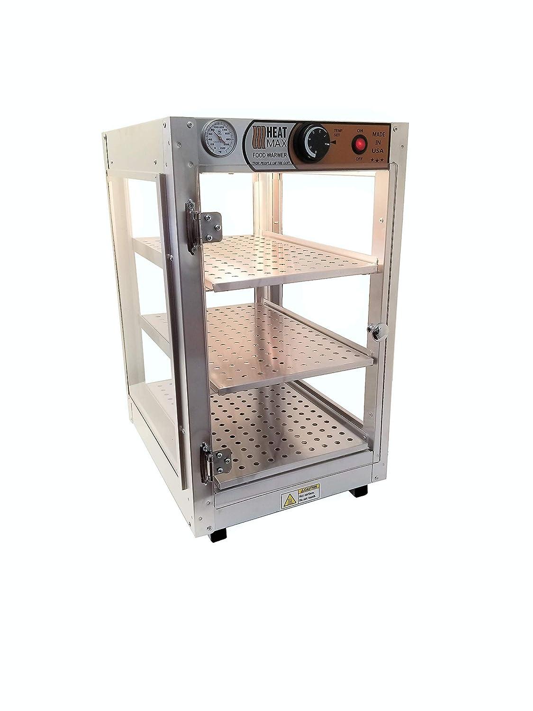HeatMax 14x18x24 Commercial Food Warmer, Countertop, Pizza, Pastry, Patty, Empanada, Hot Food Display Case