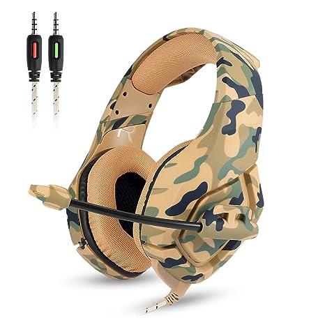 8eb2592672b Gaming Headset - Onikuma K1-B 3.5mm Over-ear Stereo Gaming Headphones with