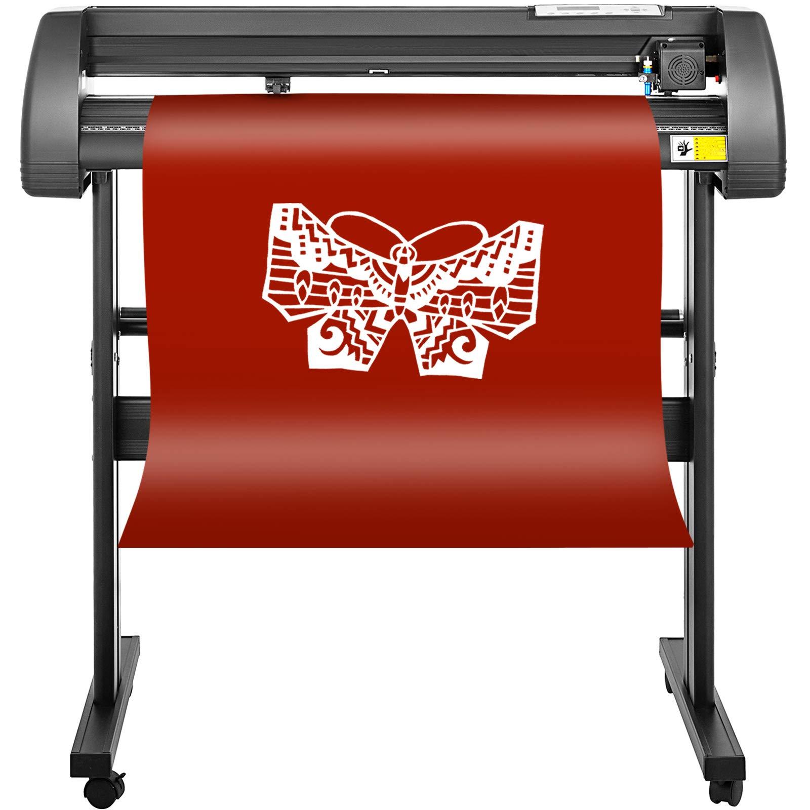 Mophorn Vinyl Cutter 28 Inch Vinyl Cutter Machine 720mm Vinyl Printer Cutter Machine LCD Display Vinyl Plotter Cutter Machine Signmaster Software Sign Making Machine with Stand by Mophorn (Image #3)