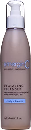 emerginC Deglazing Cleanser – Face Wash for Oily, Combination Blemish Prone Skin, Soap Free 8.1 Ounces, 240 Milliliters