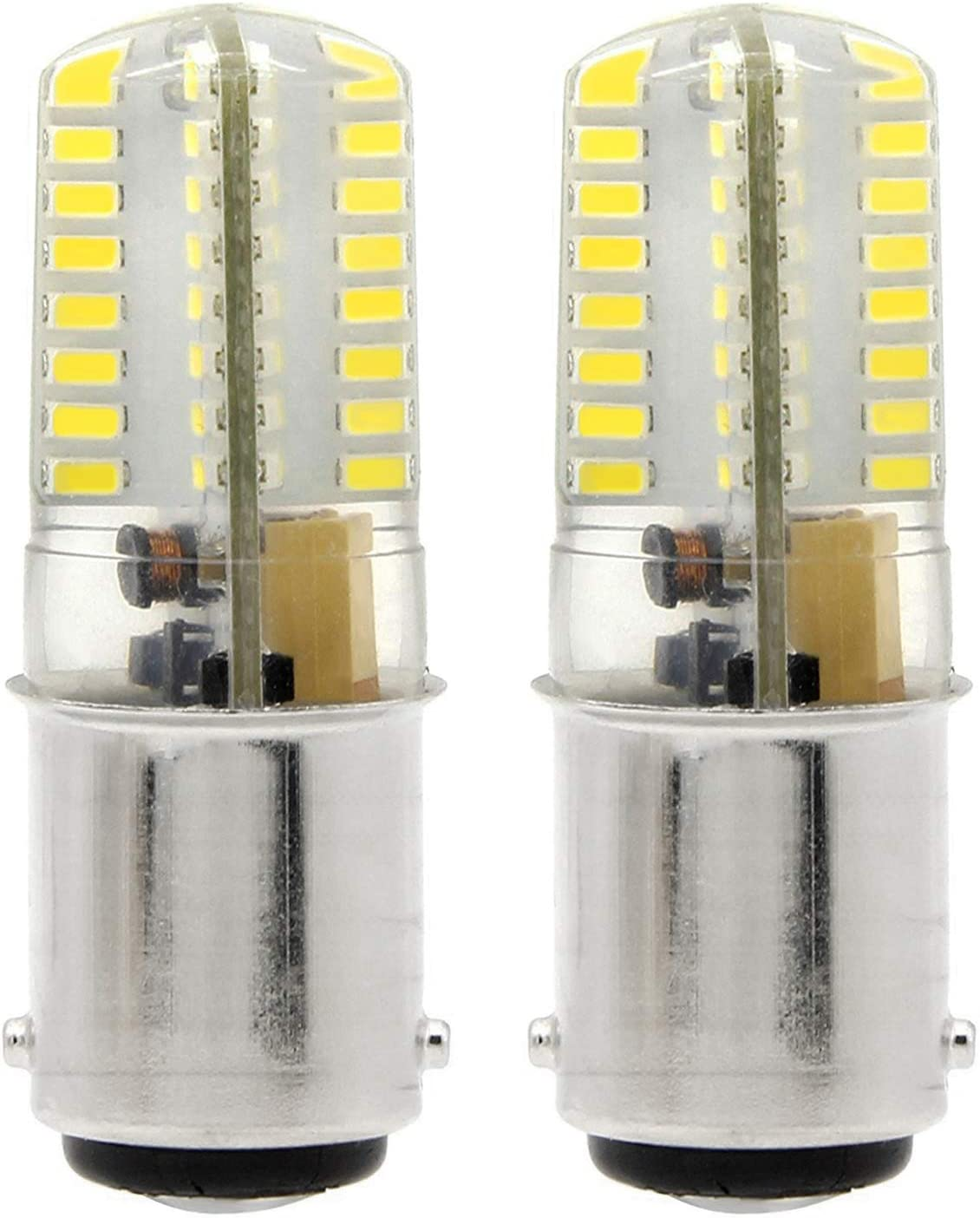 1819 BA15D LED bombillas 4W 350LM Blanco Fresco 6000K Bulb Equivalentes a Lámparas Halógenas de 35W AC 12V(2 piezas)