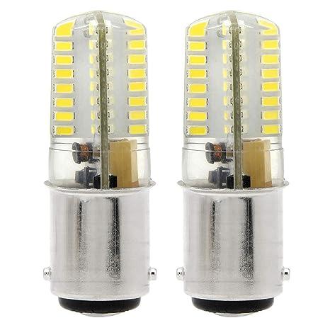 1819 BA15D LED bombillas 4W 350LM Blanco Fresco 6000K Bulb Equivalentes a Lámparas Halógenas de 35W