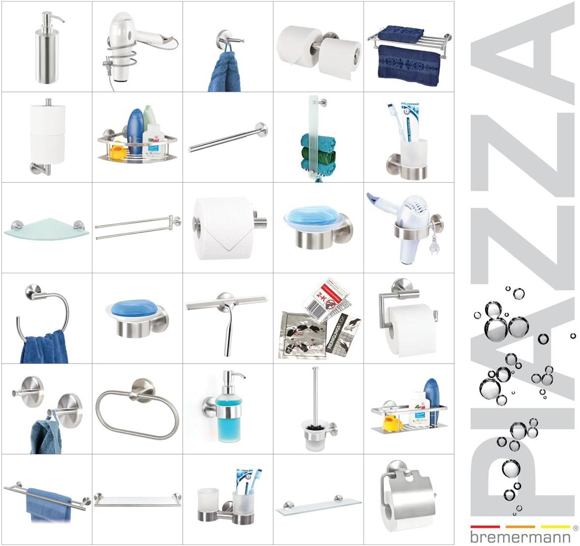 matt kein Bohren 3M Klebebefestigung Handtuchring Handtuchhalter selbstklebend Edelstahl bremermann Bad-Serie PIAZZA TAPE