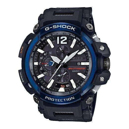 CASIO Reloj Analógico para Hombre de Digital con Correa en Resina GPW-2000-1A2ER: Amazon.es: Relojes