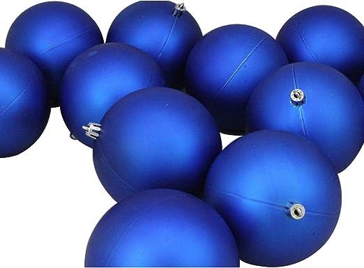 Northlight 7572228 12ct Matte Lavish Blue Shatterproof Christmas Ball Ornaments 4 100mm Home Kitchen Amazon Com