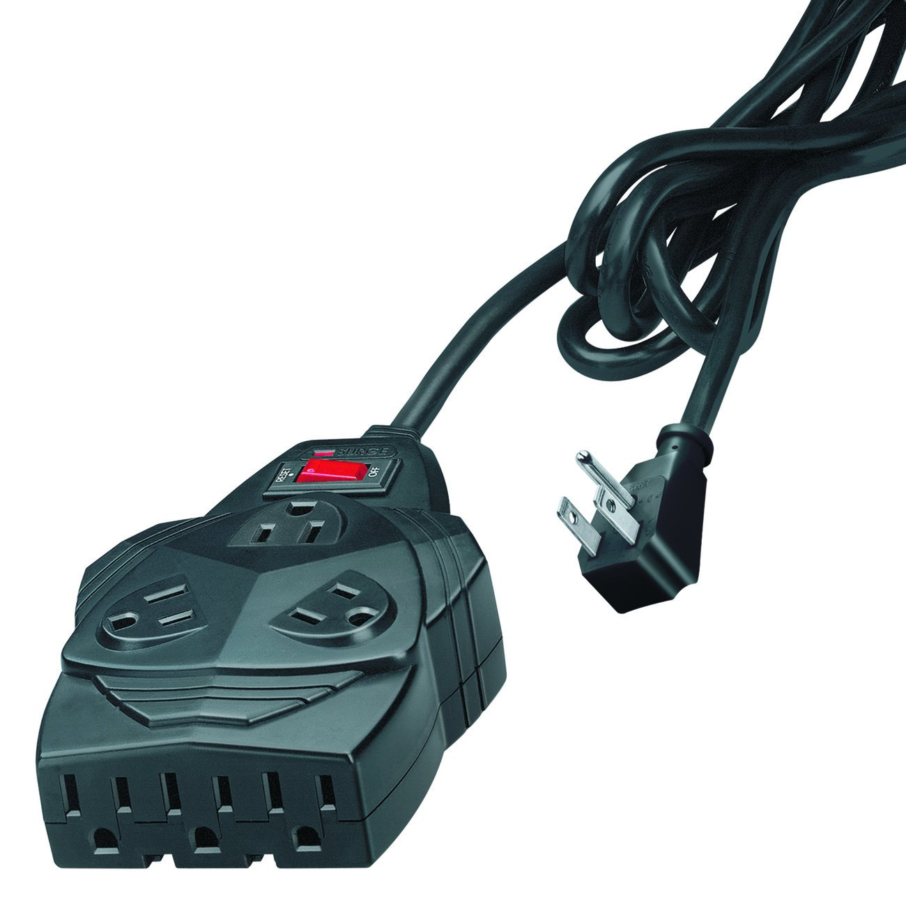 Fellowes Mighty 8 Surge Protector with 8-Outlets, 6 Foot Cord, 1300 Joules 99090