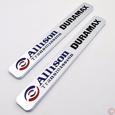 2x Allison Transmission Duramax Hood Emblem for GM Chevrolet Silverado 2500HD 3500HD 1000 2006-2013: Automotive [5Bkhe0407608]