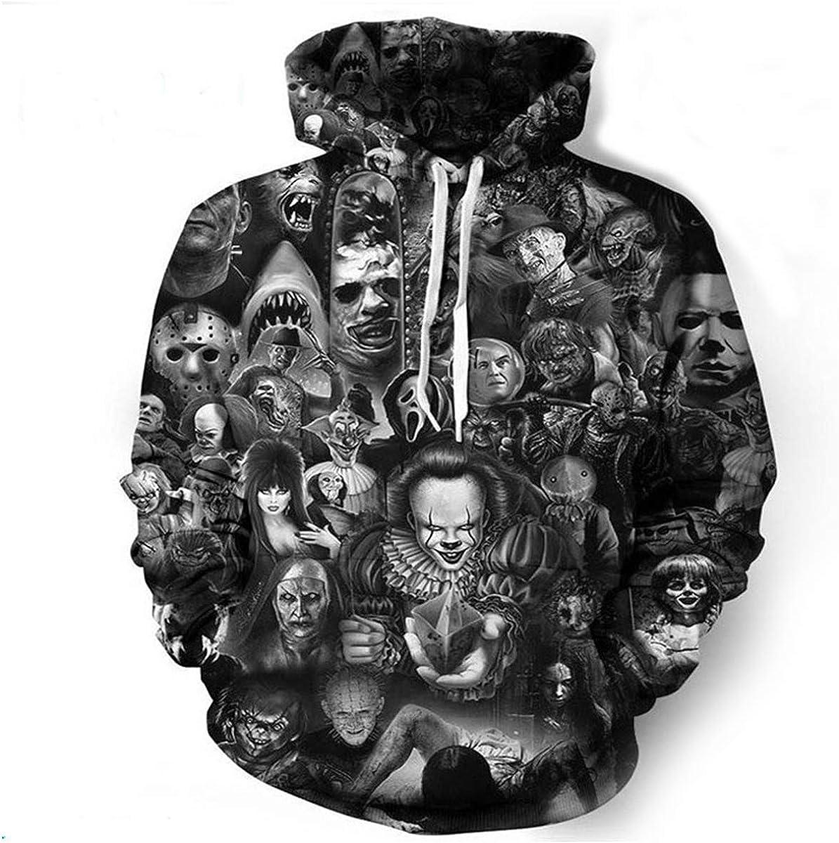 New Fashio Men//Womens Cute clown 3D Print Sweatshirt Hoodies Pullovers