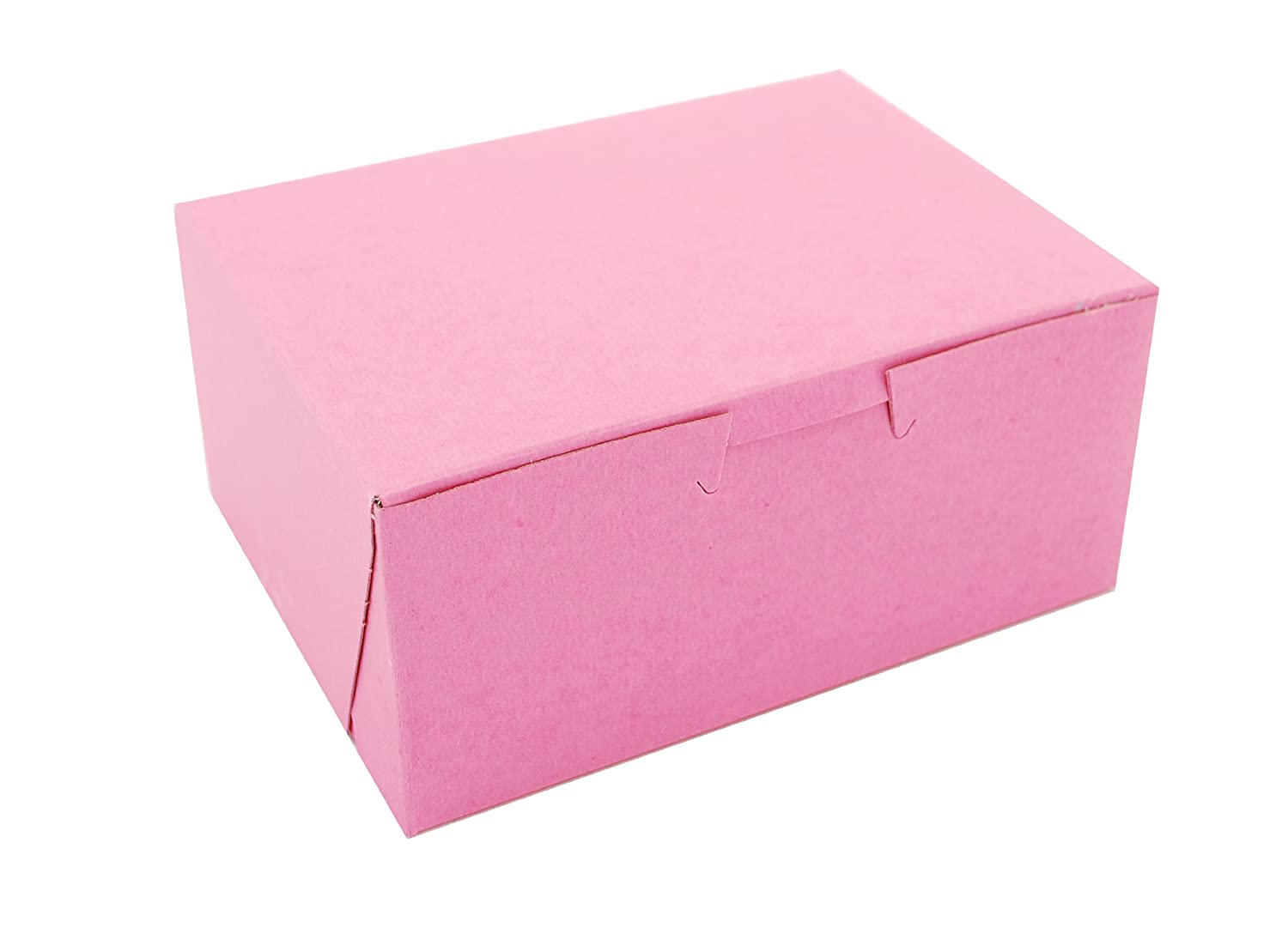 Southern Champion Tray 0803 Pink Paperboard Non-Window Lock-Corner Bakery Box, 6