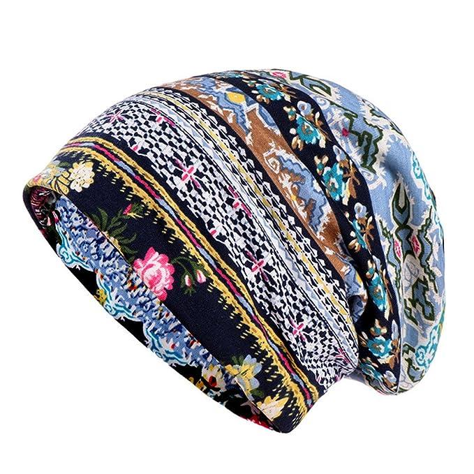 ZYCC Cappello chemosaldato in cotone per donna Cappello a cuffia con  cappuccio a righe Cappellino a d010bf222231